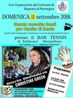 Domenica 11 Settembre 2016 Serata Pro Canile